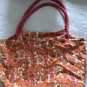 Rock Paper Flower tote bag